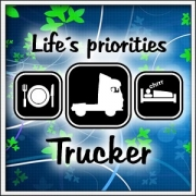 Tričko Life´s priorities - Trucker