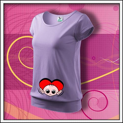 ... tehotenské tričká s dlhým rukávom 2795c72800
